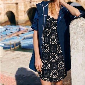 EUC Madewell 100% Silk Black Starview Dress Size 6